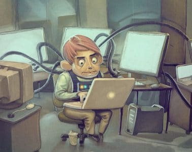 funny-programmer-illustration-ipad-wallpaper-hd